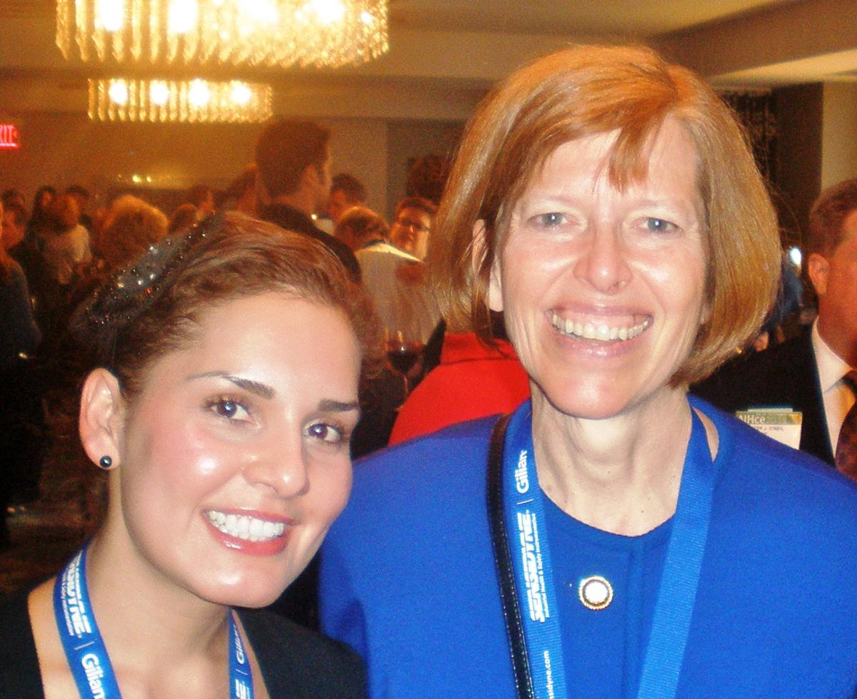 (L to R) Cassandra Porchas and Elizabeth L. Pullen, CIH, President of the American Industrial Hygiene Association