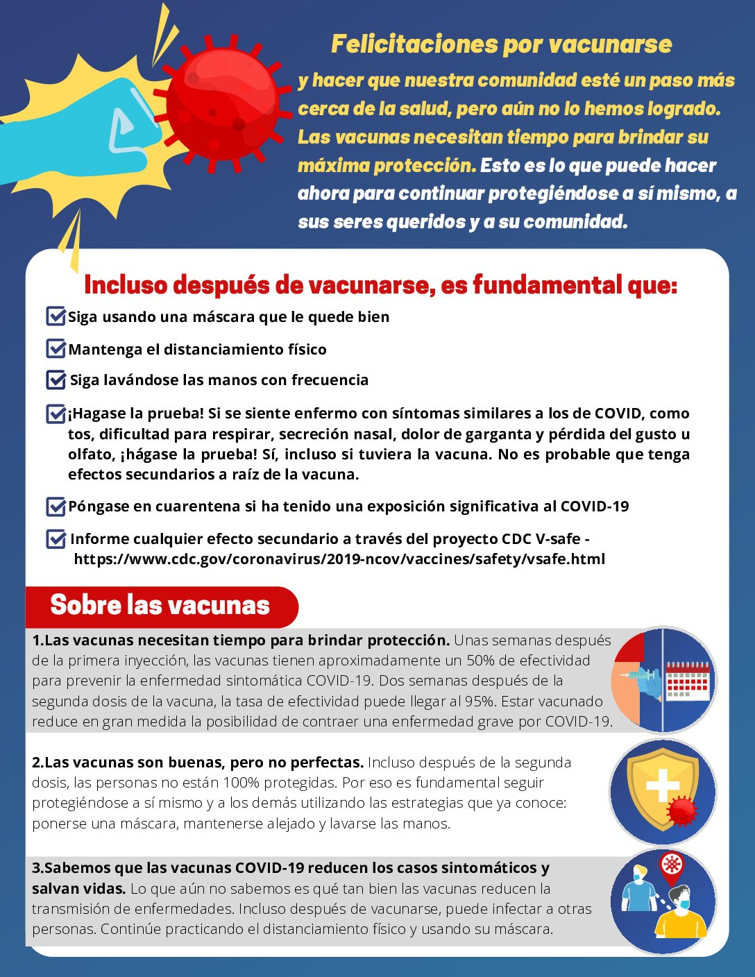 After Vaccine Graphics Page 1 Spanish