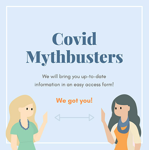 Promotional graphic of Covid Mythbusters campaign
