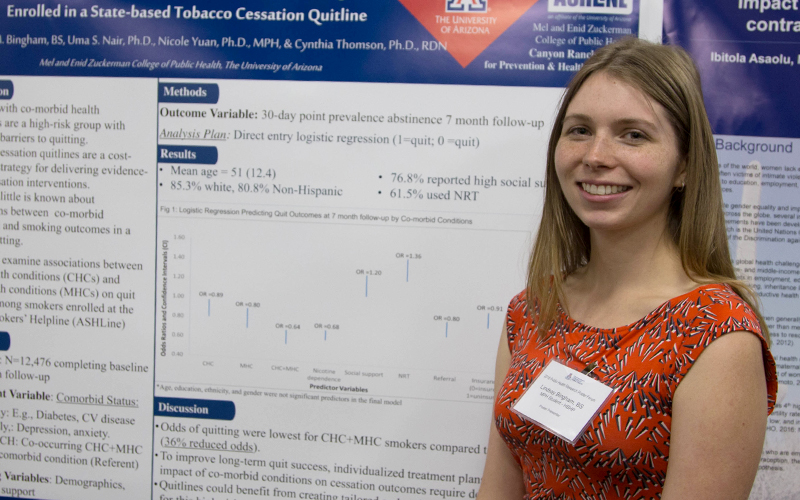 Lindsay Bingham Project: Co-morbid Conditions Influence Quit Outcomes Among Smokers Enrolled in Ashline