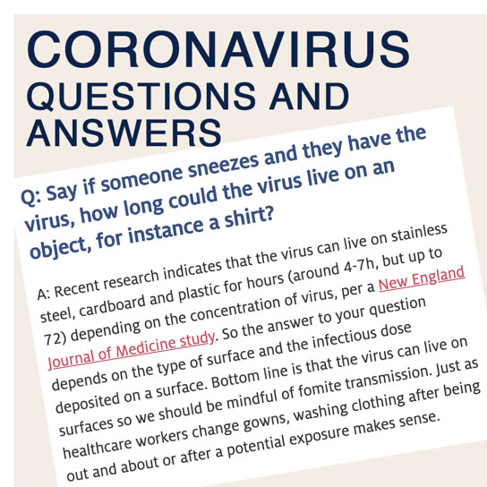 Public Health Students Generate COVID-19 Questions and Answers