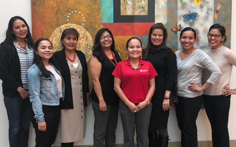 From left, Janene Yazzie, Yoshira Ornelas Van Horne, Mae-Gilene Begay, Brenette Pine, Karletta Chief, Paloma Beamer, Jennifer Richards, Rachelle Begay