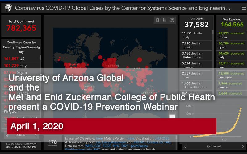 COVID-19 Outbreak Map from John Hopkins