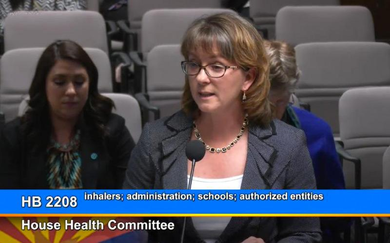 Lynn Gerald, professor of public health at the UA Mel and Enid Zuckerman College of Public Health, provided expert testimony before the Arizona House of Representatives Committee on Health on Feb. 2, 2017.