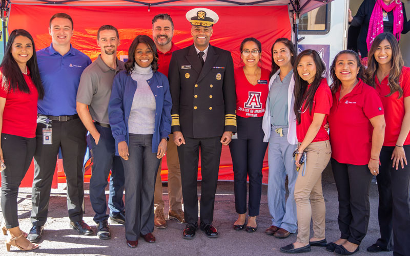 UA Health Sciences Students Meet U.S. Surgeon General