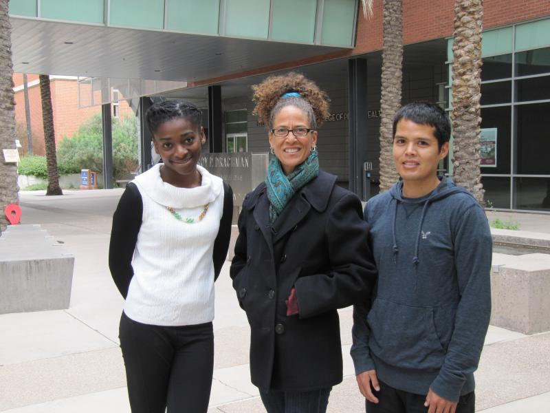 2014 UA Student Showcase Winners. L to R: Chinagozi Ugwu, Deanna Lewis and DeRay Chatter