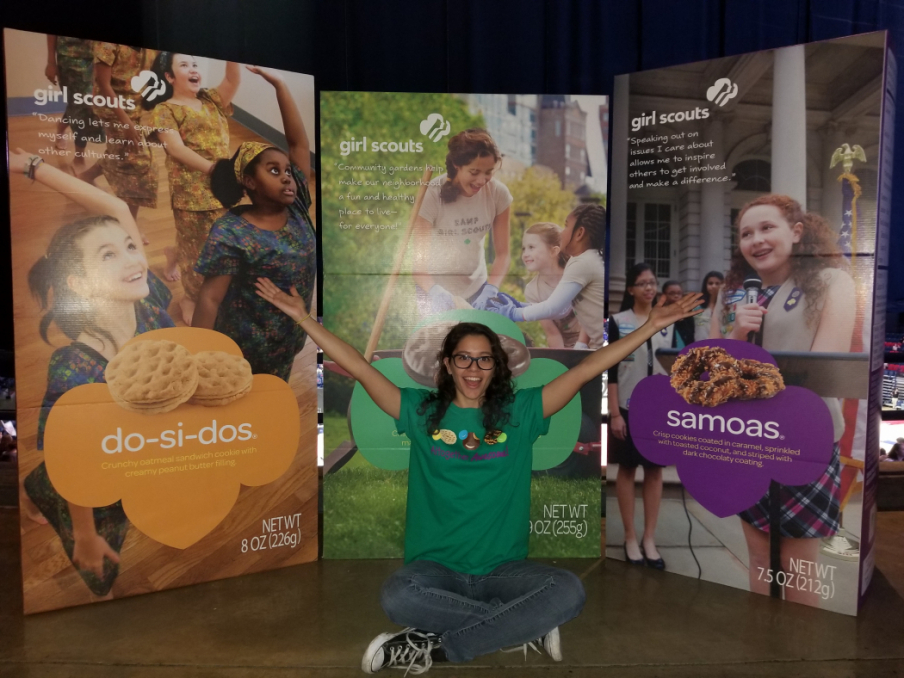 Camille Gonzalez, a master's student with a concentration in maternal and child health at the UA Mel and Enid Zuckerman College of Public Health, is a program facilitator for the Girl Scouts of Southern Arizona.