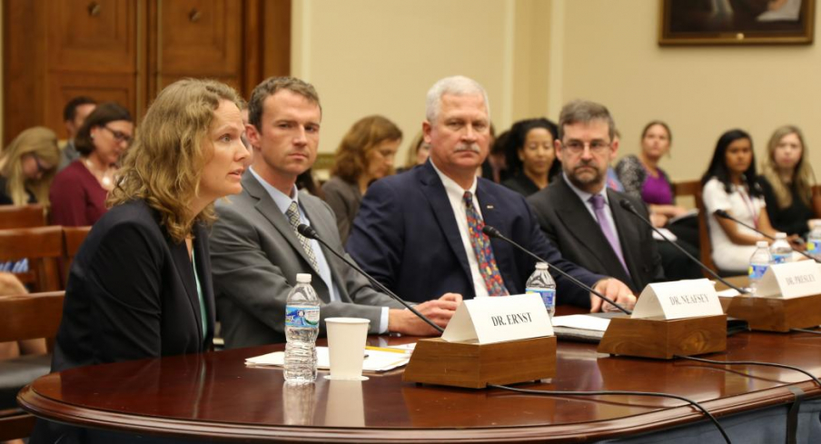 Kacey Ernst, associate professor and infectious disease epidemiologist at the UA Mel and Enid Zuckerman College of Public Health testified on the Zika virus before a U.S. House subcommittee on May 25, 2016.