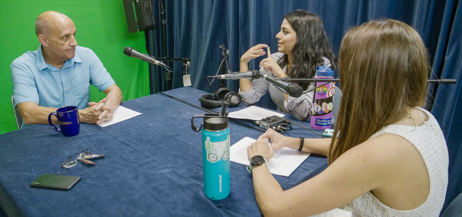 """Dr. Richard Carmona interviewed by Sana Khan and Emily Maas for the first """"Keeping Up With Public Health"""" podcast series. The new series focusing on pandemic response is conducted on Zoom."""