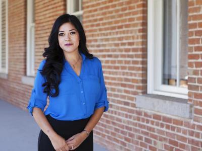 Felina Cordova, public health doctoral student and recipient of the 2016 UA Centennial Award.