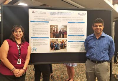 Tomas Nuno, principal investigator of the Meta Salud Diabetes study and Lorena Verdugo from El Rio Health Center. Photo courtesy of El Rio Health Center. Photo courtesy of El Rio Health Center.