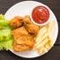 Dense fried food