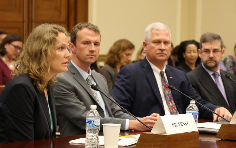 Kacey Ernst testifies before a U.S. House subcommittee on Zika virus